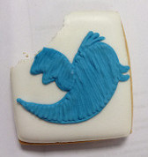 Twitter biscuit by Mr Bootle